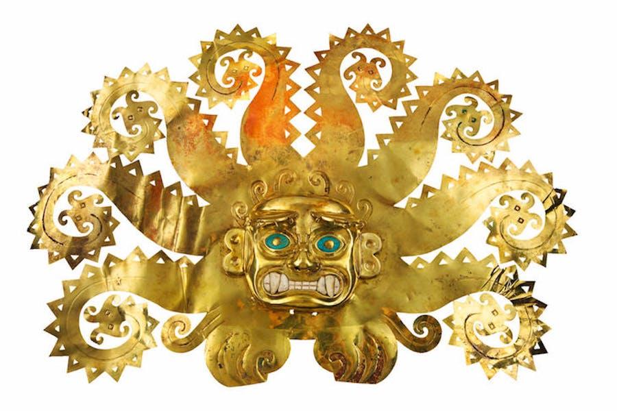 Octopus fontlet, 300–600 AD, Moche, Peru, La Mina.