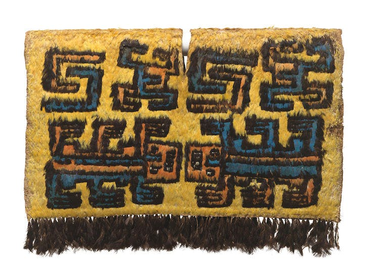 Tabard with lizard-like creatures, 500–750 AD, Nasca, Peru, South Coast. Virginia Museum of Fine Arts, Richmond