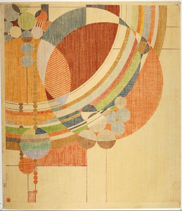 March Balloons (1955 drawing based on a c. 1926 design for Liberty magazine), Frank Lloyd Wright. The Frank Lloyd Wright Foundation Archives (The Museum of Modern Art | Avery Architectural & Fine Arts Library, Columbia University, New York)