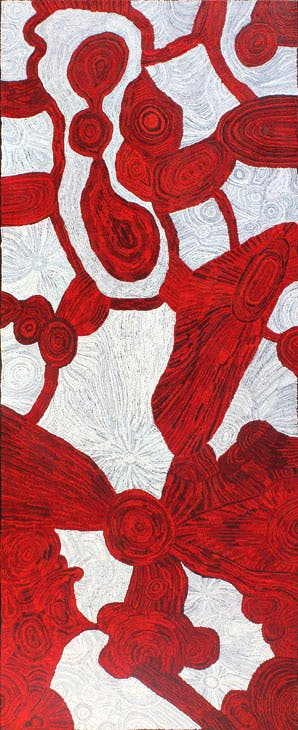 (2015), Betty Kuntiwa Pumani, APY Lands, Australia. Aboriginal Signature – Estrangin Fine Art. Courtesy the artist and Mimili Maku Art Center; © Aboriginal Signature