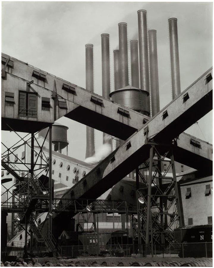 Ford Plant – Criss‐Crossed Conveyors (1927), Charles Sheeler. © The Lane Collection; ourtesy of Museum of Fine Arts, Boston