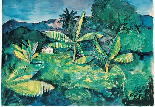 Landscape Near Kingston, Jamaica (1950), John Minton. Pallant House Gallery.