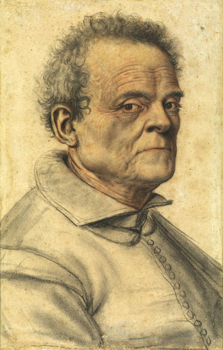 Old man, attributed to Lagneauor Lanneau. © The Samuel Courtauld Trust, The Courtauld Gallery, London