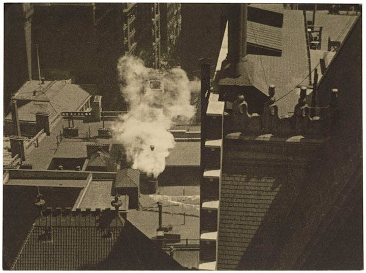 Manhatta – Rooftops (1920), Charles Sheeler. © The Lane Collection; courtesy of Museum of Fine Arts, Boston