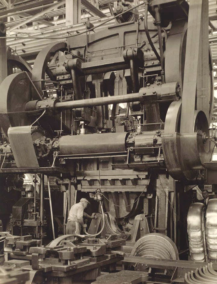 Ford Plant – Stamping Press (1927), Charles Sheeler. © The Lane Collection; courtesy of Museum of Fine Arts, Boston