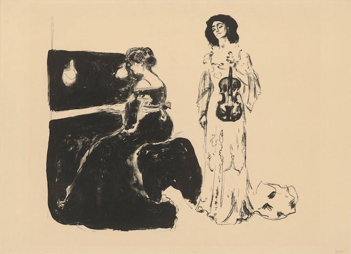 Violin Concerto (1903), Edvard Munch. © bpk, Kupferstichkabinett, Staatliche Museen zu Berlin, Dietmar Katz