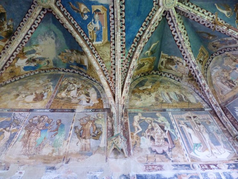 Frescoes in fortified church in Malancrav, Romania, Photo: © Nicholas Hodge