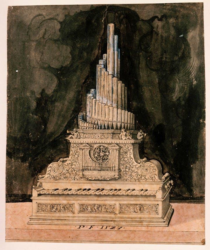 Design for an Organ (1527), Peter Flötner. © bpk, Kupferstichkabinett, Staatliche Museen zu Berlin, Jörg P. Anders