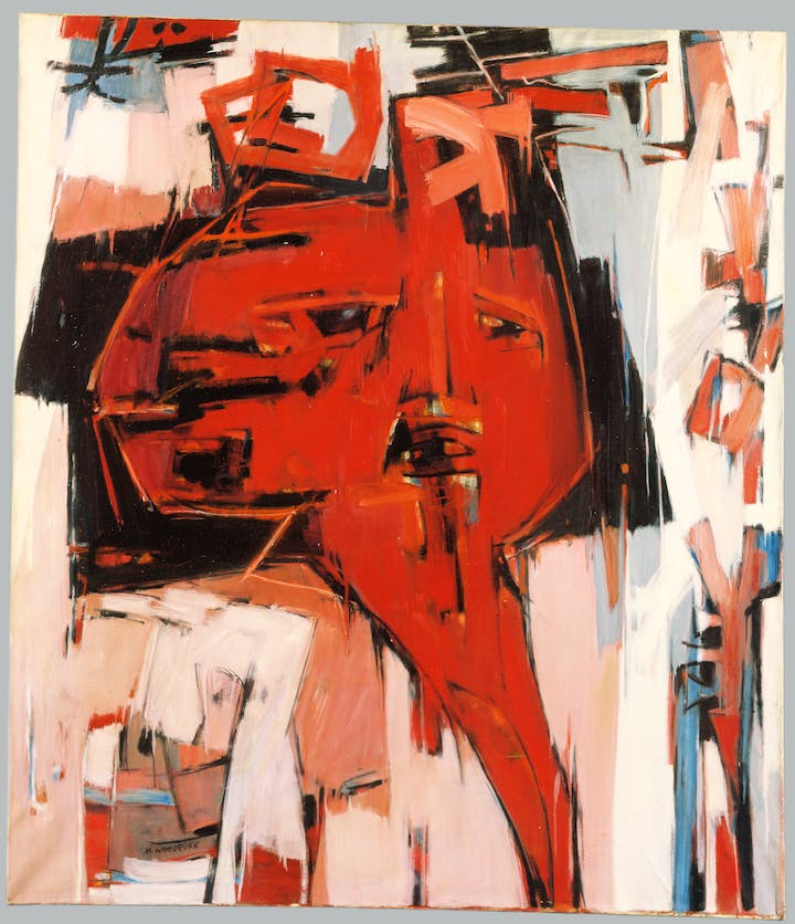 Ancestral Memory (1966), Hale Woodruff. Courtesy of Detroit Institute of Arts
