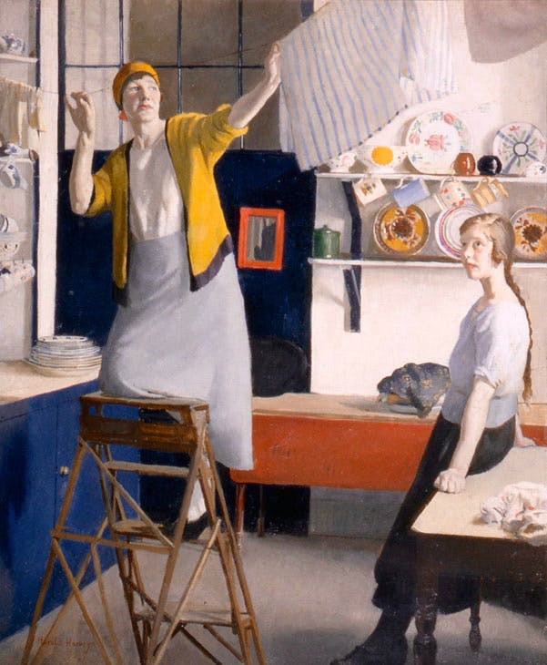 A Kitchen Interior (c. 1918), Harold Harvey.