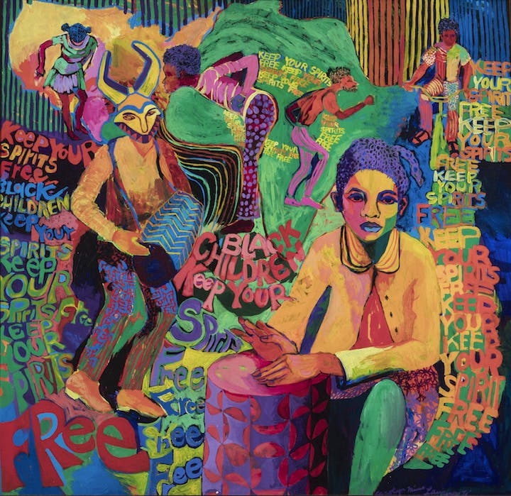 Black Children Keep Your Spirits Free (1972), Carolyn Lawrence. Courtesy of Carolyn Mims Lawrence