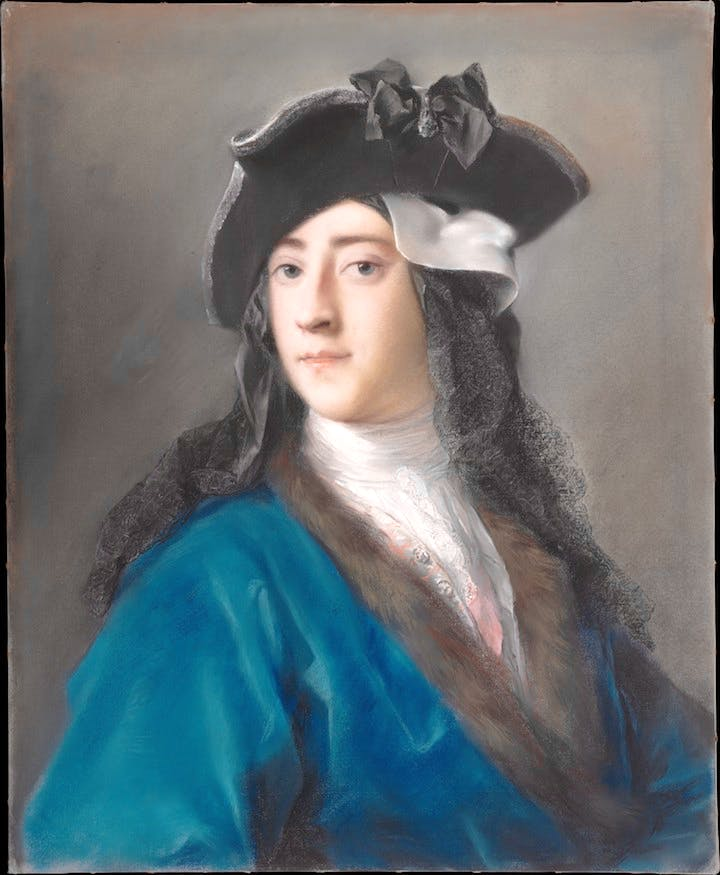 Gustavus Hamilton (1710–1746), Second Viscount Boyne, in Masquerade Costume (1730–31), Rosalba Carriera. Courtesy of the Metropolitan Museum of Art