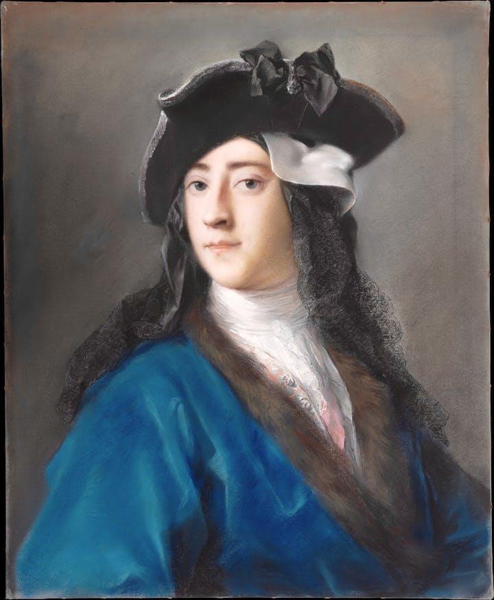 Gustavus Hamilton (1710–1746), Second Viscount Boyne, in Masquerade Costume (1730–31), Rosalba Carriera. Courtesy of the Metropolitan Museum of Art
