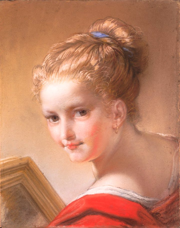 Study of a Girl in Red (1717), Benedetto Luti. Courtesy of the Metropolitan Museum of Art