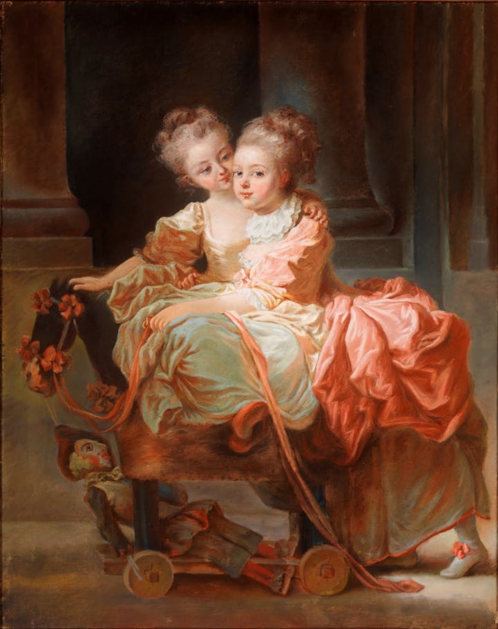 The Two Sisters (1770), Jean Claude Richard. Courtesy of the Metropolitan Museum of Art