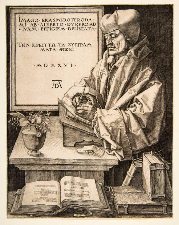 Erasmus of Rotterdam (1526), Albrecht Dürer. Metropolitan Museum of Art, New York