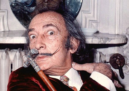 Salvador Dalí at the Hôtel Meurice, Paris, in 1972