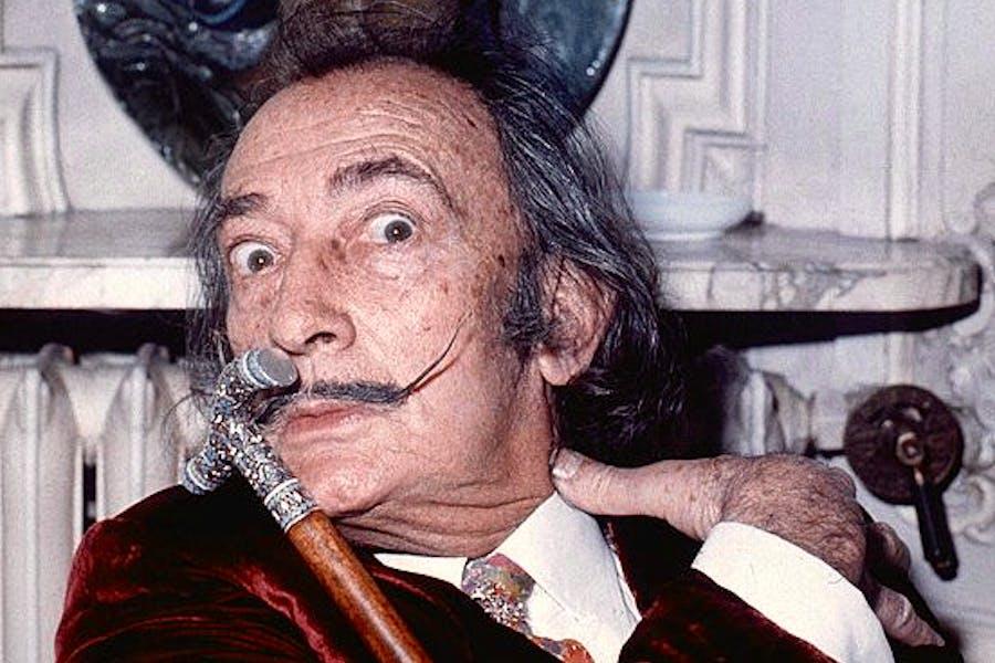 Salvador Dalí at the Hôtel Meurice, Paris, in 1972