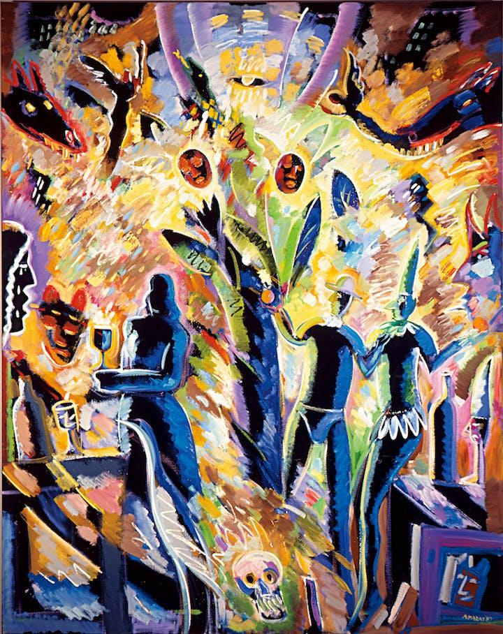 Tree of Life (1987), Carlos Almaraz. © Carlos Almaraz Estate. Photo by Bliss Photography