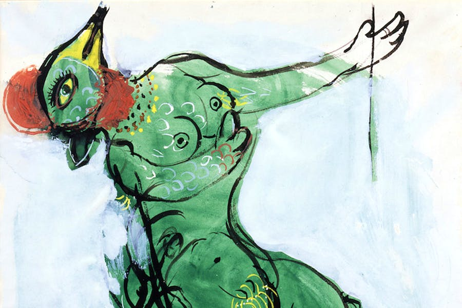 Costume design by Marc Chagall for The Firebird: Green Monster, 1945. © 2017 Artists Rights Society (ARS), New York/ADAGP, Paris, photo © 2017 Archives Marc et Ida Chagall, Paris