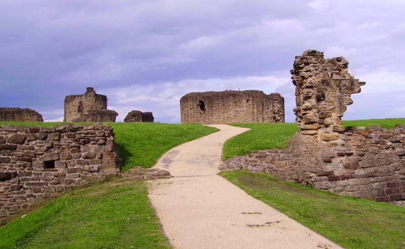 The ruins of Flint Castle, Wales.