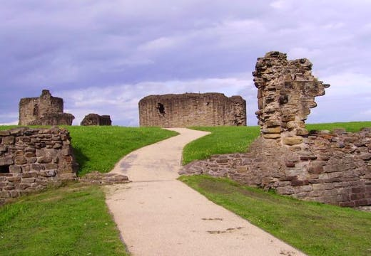The ruins of Flint Castle, Wales.