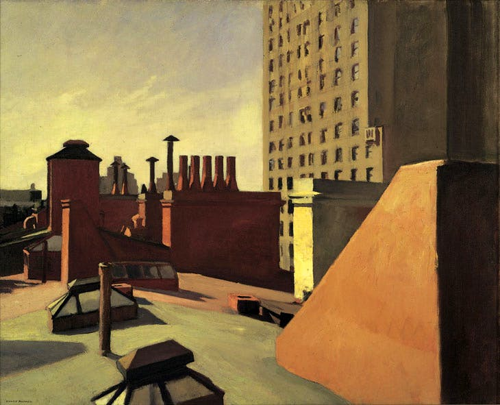 City Roofs (1932), Edward Hopper. © Heirs of Josephine N. Hopper, licensed by Whitney Museum of American Art