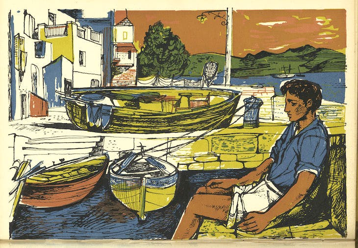 Illustration for 'Time Was Away' by John Minton (1947)