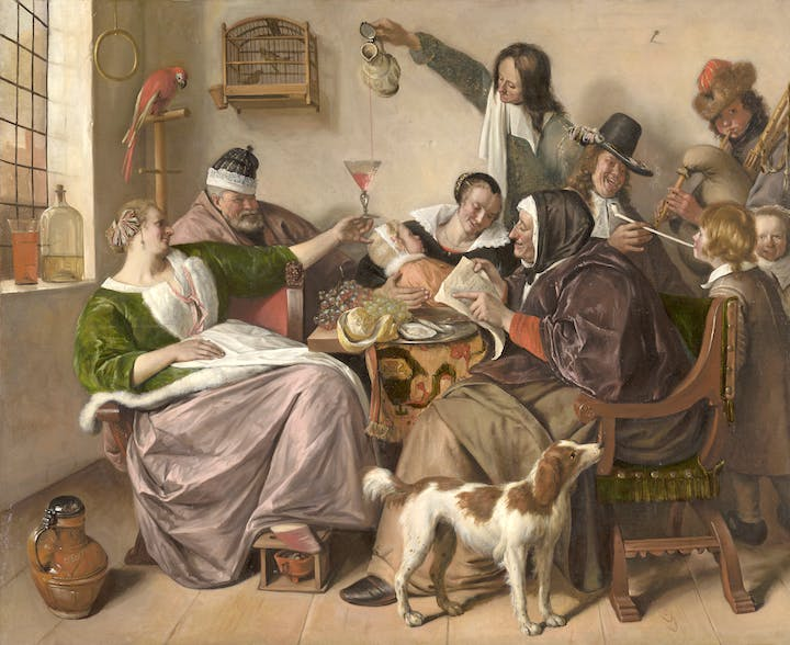 'As the Old Sing, So Pipe the Young' (c. 1668–70), Jan Steen. Photo: Mauritshuis, The Hague