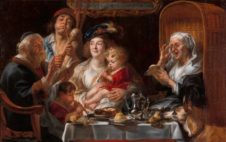 The Old Folks sing, the Young Folks chirp (1638), Jacob Jordaens I. Photo: Rik Klein Gotink