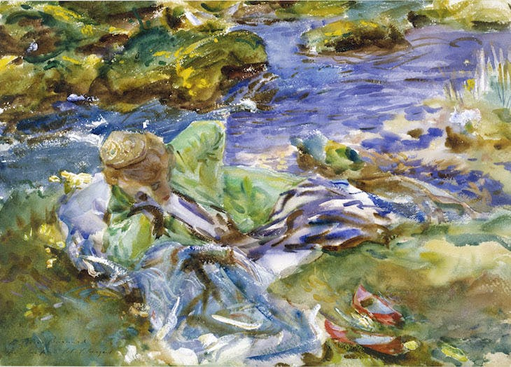 A Turkish Woman by a Stream, (c. 1907), John Singer Sargent. Victoria and Albert Museum