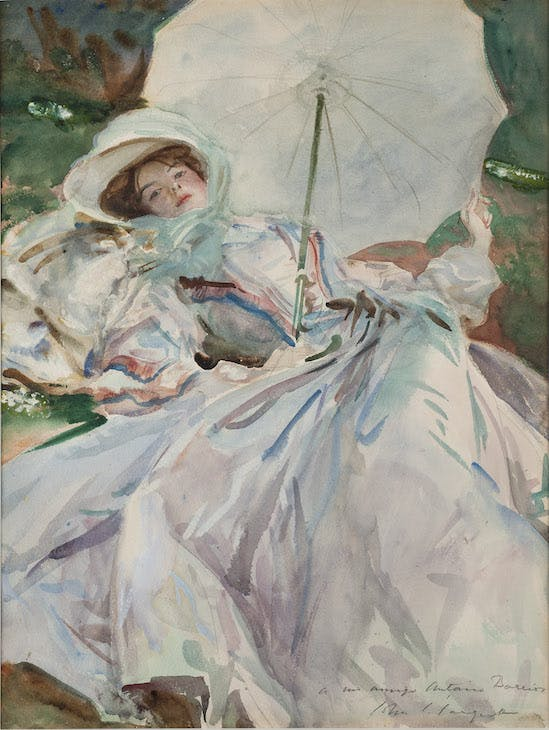 The Lady with the Umbrella (1911), John Singer Sargent.