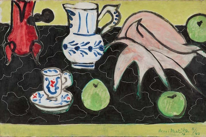 Still Life with Seashell on Black Marble (1940), Henri Matisse. Photo © Archives H. Matisse © Succession H. Matisse/DACS 2017