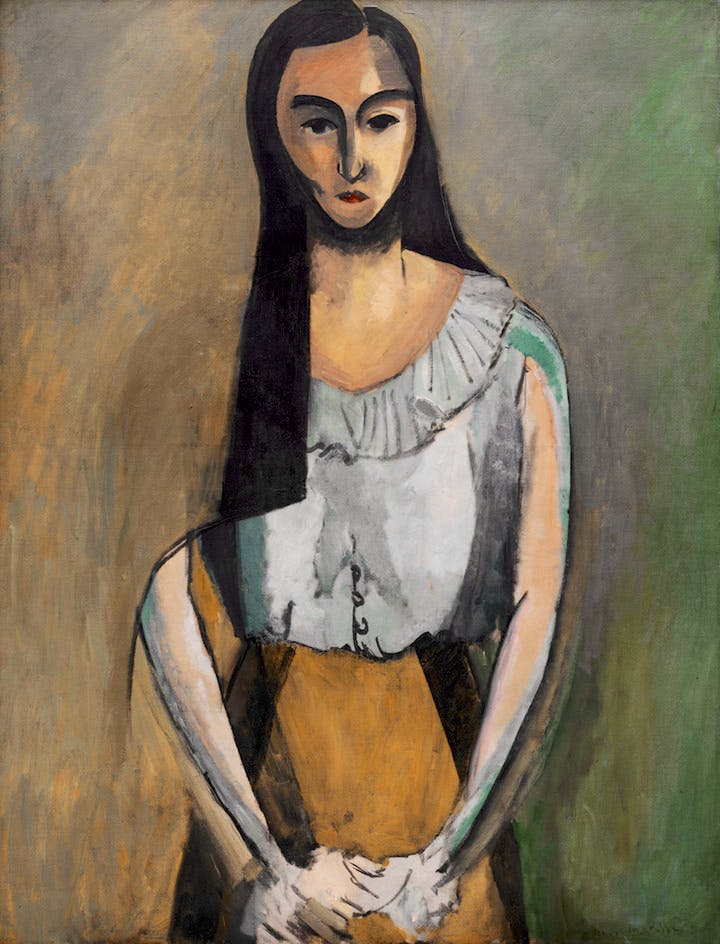 The Italian Woman (1916), Henri Matisse. Photo © The Solomon R. Guggenheim Foundation/Art Resource, NY © Succession H. Matisse/DACS 2017