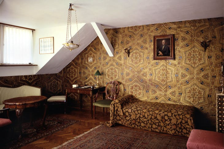 The salon of the apartment that Viktor Kovačić created for himself in Zagreb in 1906