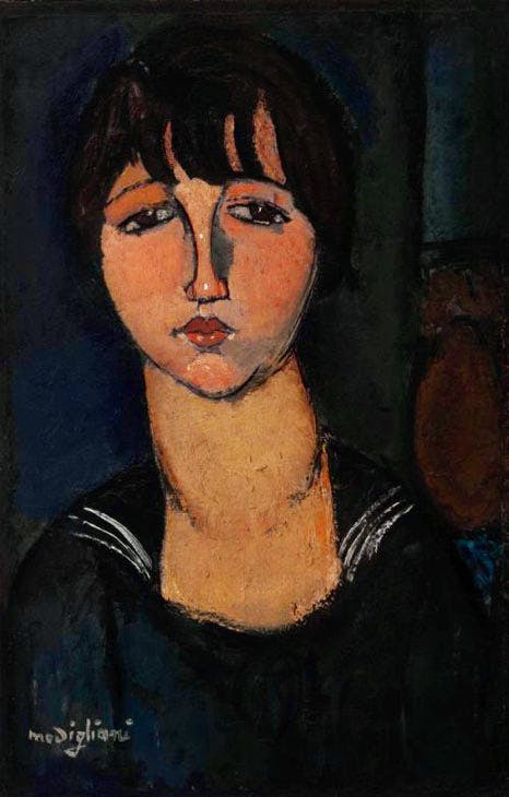 Woman in a Sailor Shirt (La femme en blouse marine) (1916), Amedeo Modigliani