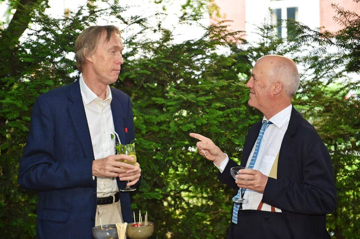 James Stourton and Charles Saumarez Smith at the Apollo summer party 2017. Photo © Nick Harvey