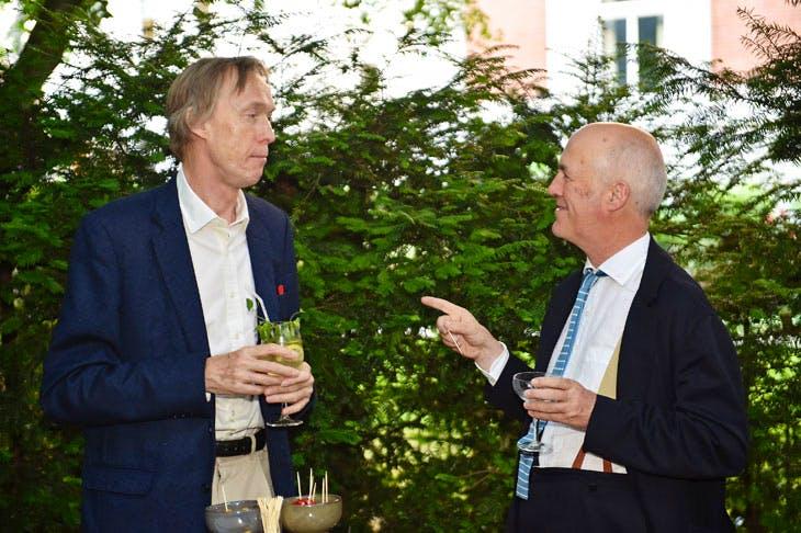 James Stourton and Charles Saumarez Smith at the Apollo summer party 2017. Photo © Nick Harvey