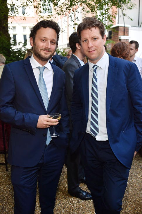 Thomas Marks and Fraser Nelson at the Apollo summer party 2017. Photo © Nick Harvey