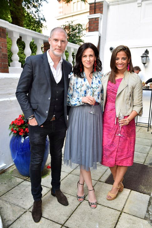Martina Batovic (centre) and Katy Wickremesinghe at the Apollo summer party 2017. Photo © Nick Harvey