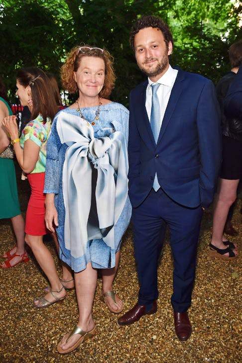 Kate Malone and Thomas Marks at the Apollo summer party 2017.Photo © Nick Harvey