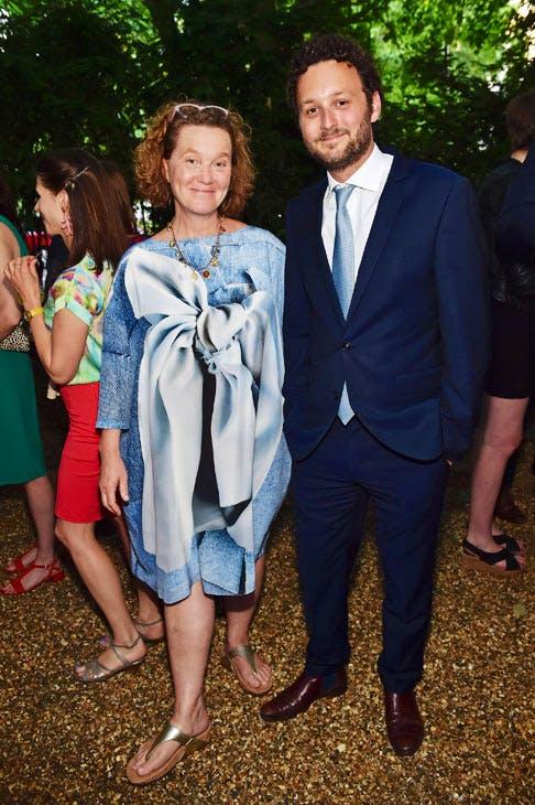 Kate Malone and Thomas Marks at the Apollo summer party 2017.Photo © Nick Harvey
