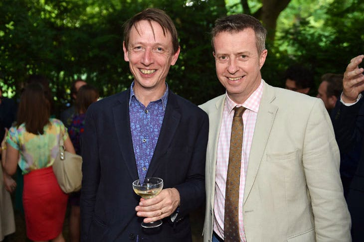 Alexander Sturgis and Tim Knox at the Apollo summer party 2017. Photo © Nick Harvey