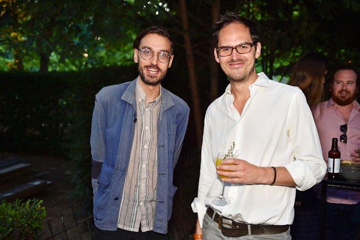 Igor Toronyi-Lalic and Tom Fleming at the Apollo summer party 2017.Photo © Nick Harvey
