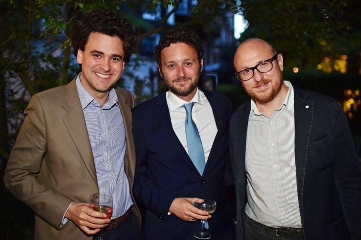 Julien Domercq, Thomas Marks and Arturo Galansino at the Apollo summer party 2017. Photo © Nick Harvey