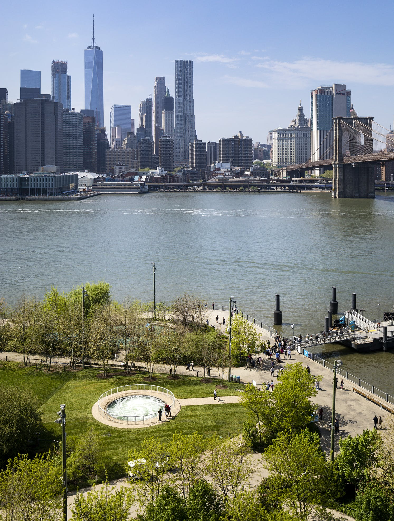 Anish Kapoor's Descension in Brooklyn Bridge Park, New York