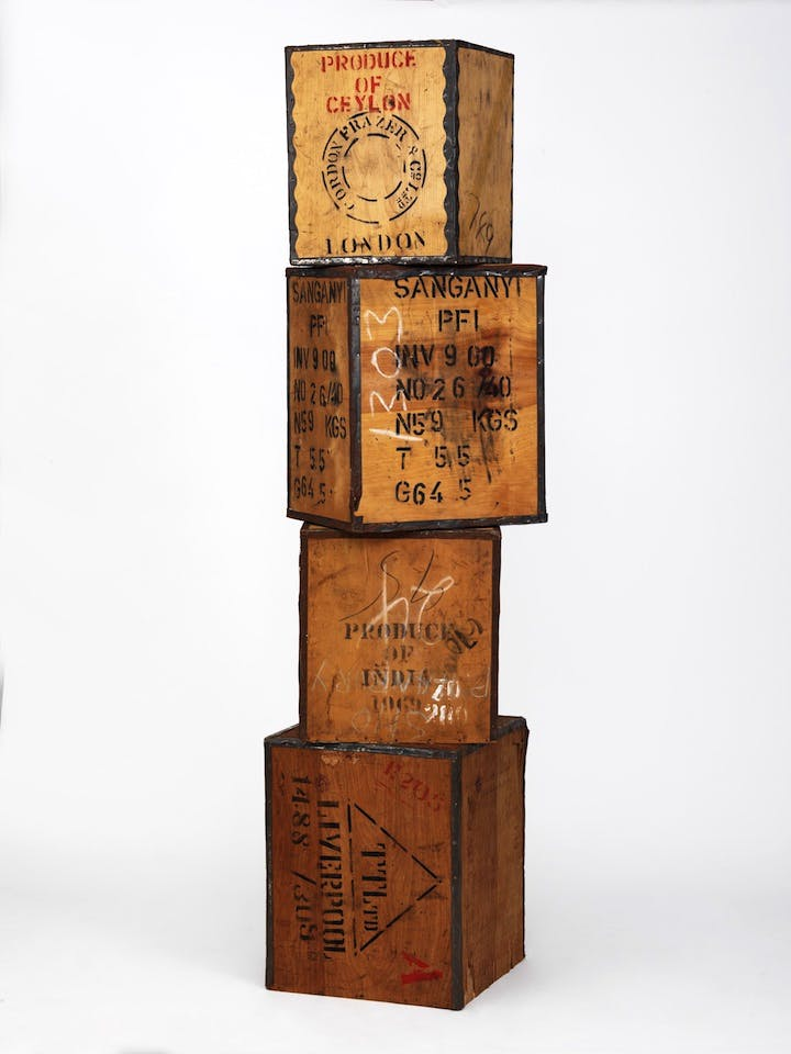 Plywood tea chests. Photo: Victoria and Albert Museum, London