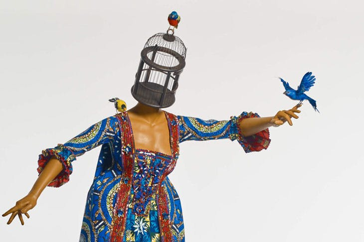 Mrs Pinckney and the Emancipated Birds of South Carolina (detail; 2017), Yinka Shonibare. Yale Center for British Art. Photo: Stephen White