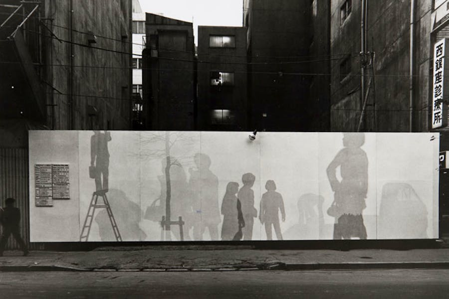 Temporary Enclosure of Carioca Building Construction Site (1971), Jirō Takamatsu.