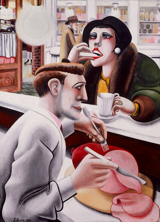 The Snack Bar (1930), Edward Burra. © The estate of Edward Burra, courtesy Lefevre Fine Art, London